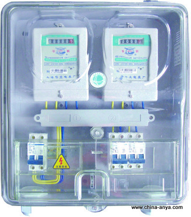 【农网防窃电塑料透明单相电表箱】农网防窃电塑料箱