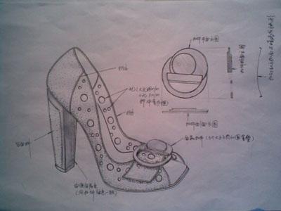 手繪鞋子設計圖教程